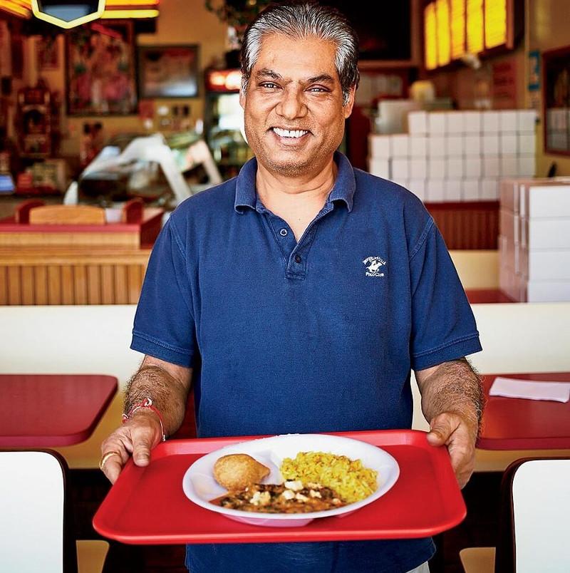 Trushar Patel, the owner of Rajun Cajun in Hyde Park Chicago